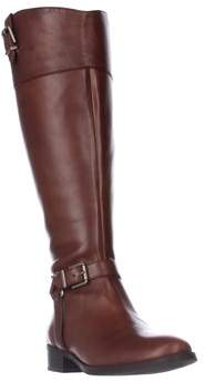 INC International Concepts I35 Fedee Harness Strap Riding Boots, Cognac.