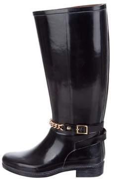 Burberry Chain-Link Rain Boots