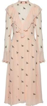 Temperley London Starling Bead-Embellished Ruffled Chiffon Dress