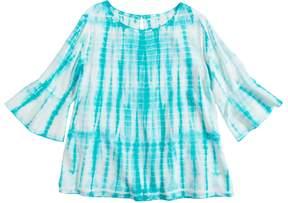 Mudd Girls 7-16 & Plus Size Bell Sleeve Challis Top