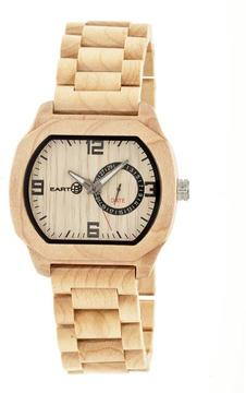 Earth Scaly Collection ETHEW2101 Unisex Wood Watch with Wood Bracelet-Style Band
