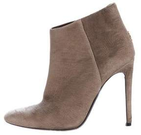 Roberto Cavalli Pleated Leather Ankle Boots