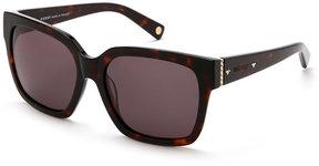 Balmain Tortoiseshell-Look BL7002 XL Square Sunglasses