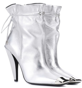 Tom Ford Metallic leather ankle boots