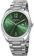 Akribos XXIV Green Dial Stainless Steel Men's Watch