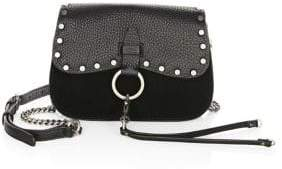 Rebecca Minkoff Keith Small Leather Saddle Bag - DARK CHERRY - STYLE
