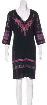 Figue Embroidered Long Sleeve Dress
