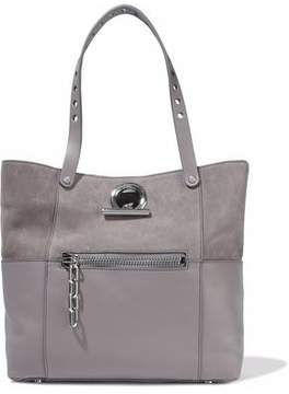 Alexander Wang Chain-Trimmed Suede And Textured-Leather Tote