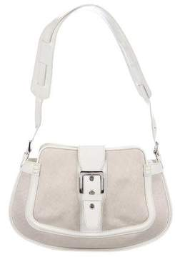 Tod's Patent-Leather Trimmed Woven Bag