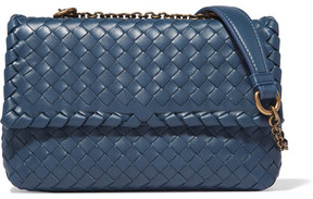 Bottega Veneta - Olimpia Baby Intrecciato Leather Shoulder Bag - Blue