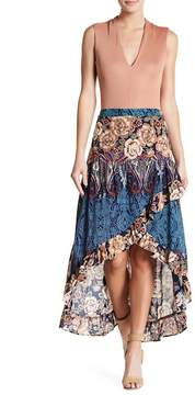 Angie Floral Hi-Lo Maxi Skirt