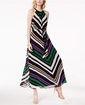 Bar III Chevron-Print Maxi Dress, Created for Macy's