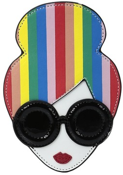 Alice + Olivia - Rainbow Print Stace Face Credit Card Case Credit card Wallet