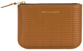 Comme des Garcons logo embossed purse