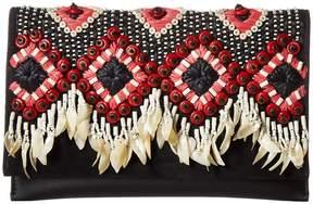 Tory Burch Brooke Embellished Clutch Clutch Handbags - BLACK - STYLE
