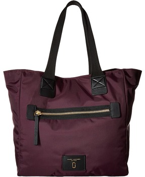 Marc Jacobs Nylon Biker North/South Tote Tote Handbags - DARK VIOLET - STYLE