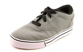 Heelys Launch Youth Round Toe Canvas Gray Skate Shoe.