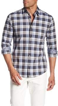 HUGO BOSS Reid Long Sleeve Plaid Print Slim Fit Woven Shirt