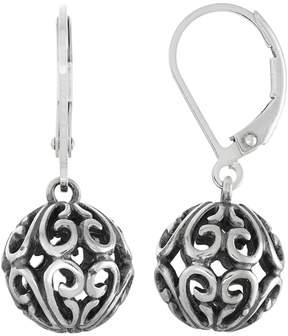 Ball Sterling Silver Filigree Drop Earrings