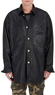 Faith Connexion Men's Oversized Sherpa-Lined Leather Jacket