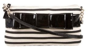 Kate Spade Striped Canvas Crossbody Bag - BLACK - STYLE