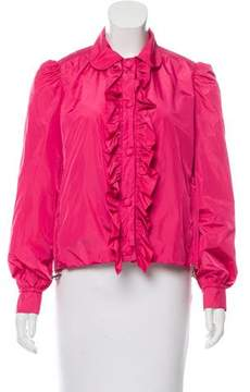 ADD Light Weight Ruffle-Accented Jacket w/ Tags