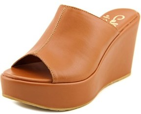 Callisto Maeve Open Toe Synthetic Wedge Heel.