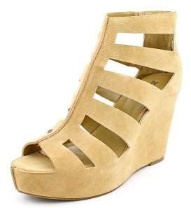 BCBGeneration Torrez Women US 9.5 Tan Wedge Sandal