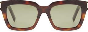 Saint Laurent Bold 1 003 square-frame tortoiseshell sunglasses