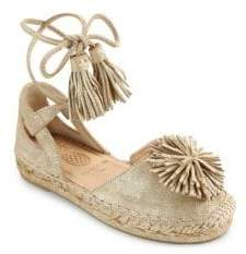 Aquazzura Mini Kid's Sunshine Leather& Suede Espadrilles