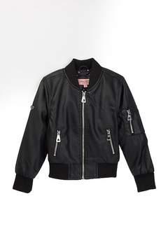 Urban Republic Faux Leather Bomber Jacket (Little Girls)
