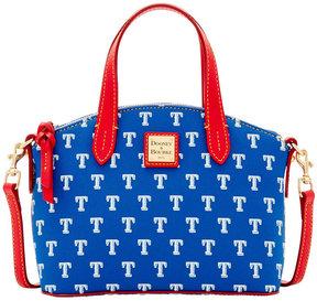Dooney & Bourke Texas Rangers Ruby Mini Crossbody Satchel - BLUE/RED - STYLE