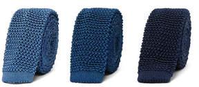 Charvet Set Of Three 4.5cm Knitted Silk Ties