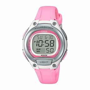 Casio Womens Pink Strap Watch-Lw203-4a