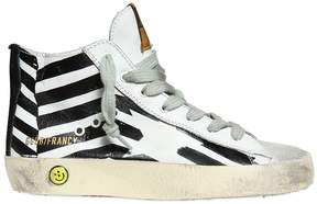 Golden Goose Deluxe Brand Francy Printed Leather High Top Sneakers