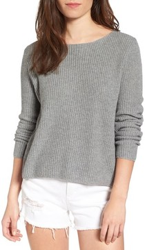 BP Women's Lace-Up Back Sweater