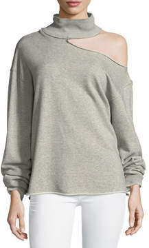RtA Langley Turtleneck Cotton Sweatshirt