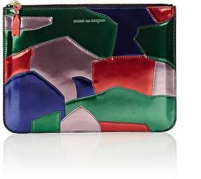 Comme des Garcons Men's Patchwork Large Zip Pouch