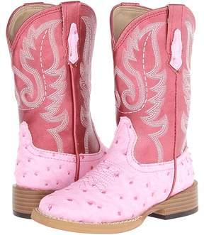 Roper Square Toe Ostrich Cowboy Boots