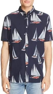 Barney Cools Yacht-Print Regular Fit Button-Down Shirt