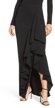 Eliza J Women's Ruffle Side Maxi Skirt
