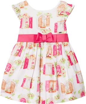 Mayoral Fuchsia Flower Print Printed Dress
