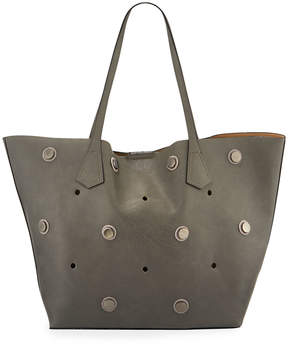 Neiman Marcus Studded Faux Tote Bag