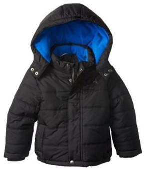 Calvin Klein Jeans Little Boys Black Puffer Jacket Winter Ski Coat L