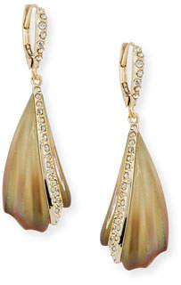 Alexis Bittar Crystal-Encrusted Sculptural Drop Earrings