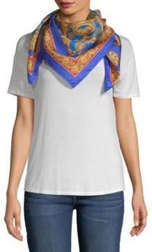 Versace Carre Intricate Foulard Silk Scarf