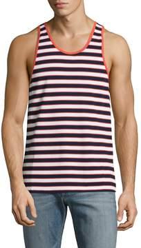 Parke & Ronen Men's Striped Cotton Tank Top