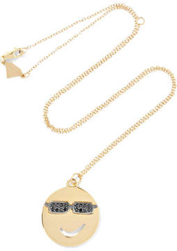 Alison Lou Joe Cool 14-karat Gold Diamond Necklace