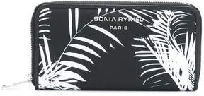 Sonia Rykiel palm print zip around wallet