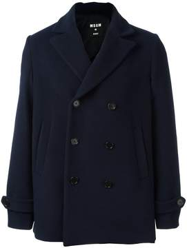 MSGM double breasted peacoat